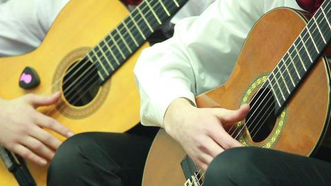 Gitarre spielen 8 Stock Video Footage