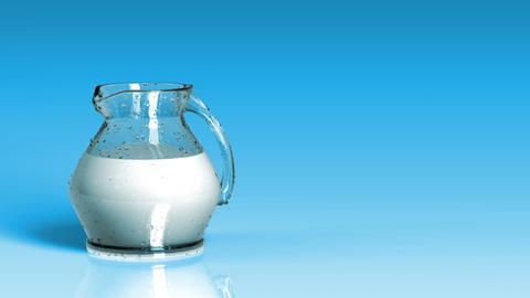 Fresh Milk Background Stock Video Footage