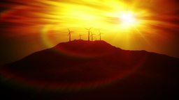 Wind Turbine Animation depicting clean energy Stock Video Footage