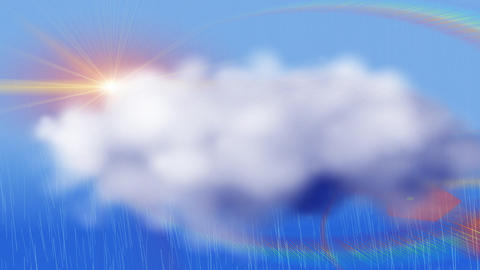 Rain, computer generation Animation