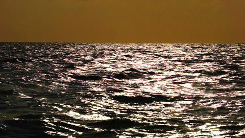 High Contrast Seascape Stock Video Footage