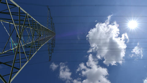 4k UHD electricity pylon time lapse dolly move 10882 Footage