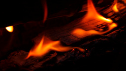 Burning Wood Stock Video Footage