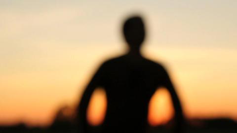Man silhouette Footage