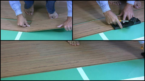 Laying laminate Stock Video Footage
