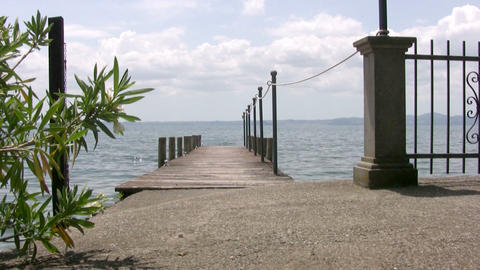 Empty pier Stock Video Footage