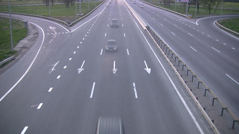 Evening traffic Stock Video Footage