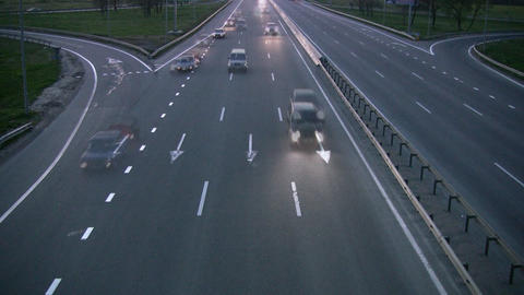 Evening Traffic stock footage