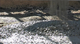 Concrete Falling From Mixer 3 stock footage