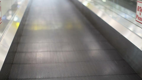 Moving sidewalk in airport Footage