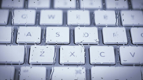 Keyboard Pan with Water Pane Stock Video Footage