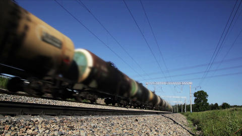 Freight train, seamless loop Stock Video Footage