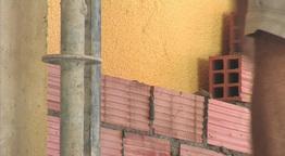 Bricklayer putting bricks Footage