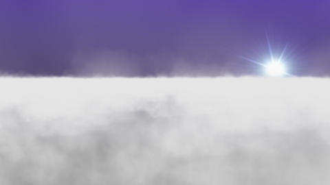 moving clouds, seamless loop Animation