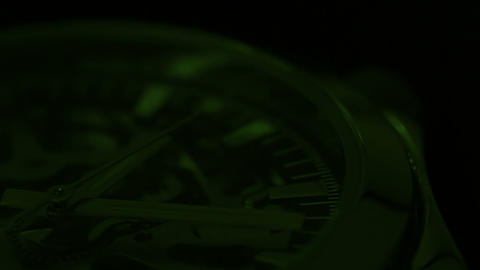 Green chronometer Stock Video Footage