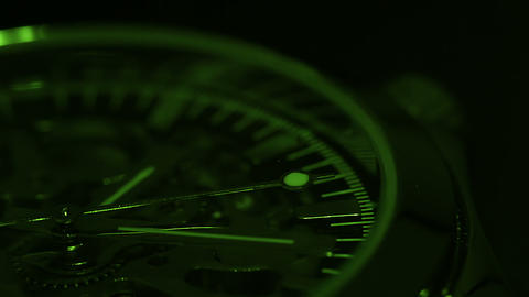 Green chronometer Stock Video Footage