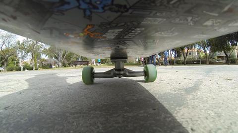 Sport Skateboard skateboarding low POV happy fun... Stock Video Footage