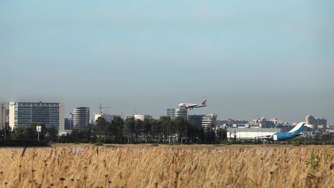 plane lands Footage
