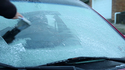 Cold Icy Windshield stock footage