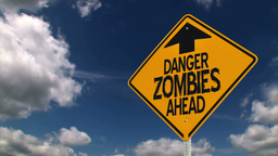 Zombie Road Sign Stock Video Footage
