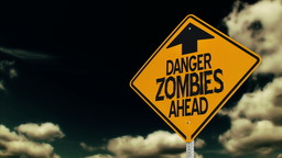 Zombie Road Sign Animation