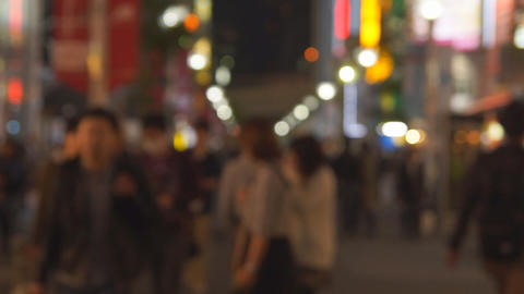 People in the big city Footage