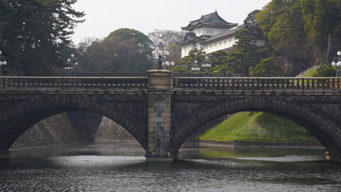 Imperial Palace in Tokyo Stock Video Footage