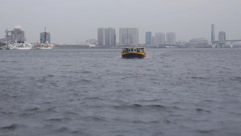 Harbor in Tokyo Stock Video Footage