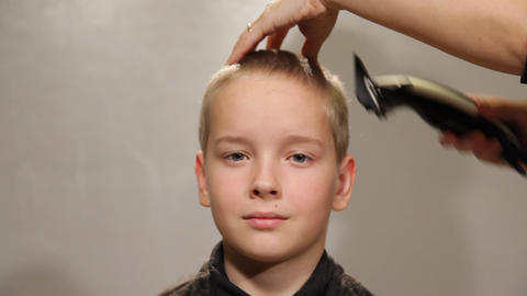 Hairstyle, Portrait of a teenager Stock Video Footage
