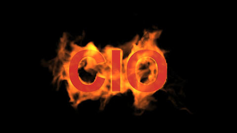 flame CIO word,fire text Stock Video Footage