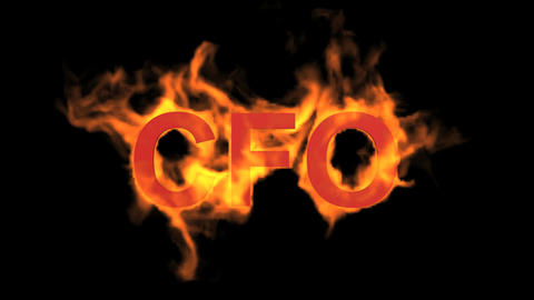 flame blue CFO word,fire text Stock Video Footage
