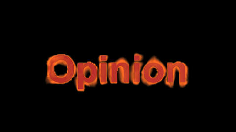flame opinion word,fire text Stock Video Footage