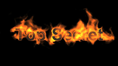 flame top secret,fire text Animation