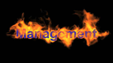 flame blue management word,fire text Stock Video Footage