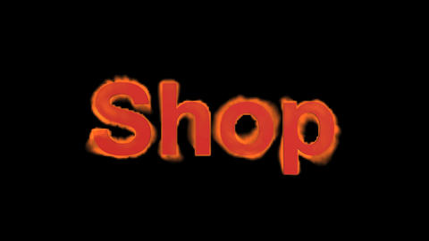 flame shop word,fire text Stock Video Footage