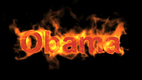 flame Obama word,USA president,fire name Stock Video Footage