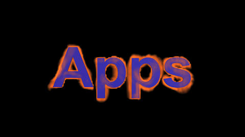flame blue apps word,fire text Stock Video Footage