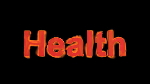 flame health word,fire text Stock Video Footage