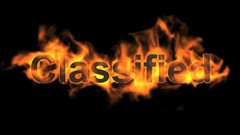 flame classified word,fire text Animation