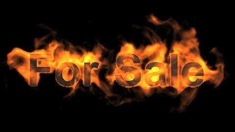 flame for sale,fire text Stock Video Footage