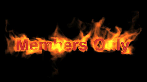 flame members only,fire text Stock Video Footage
