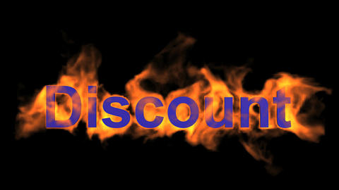 flame blue discount word,fire text Stock Video Footage