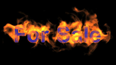 flame for sale,fire text Animation