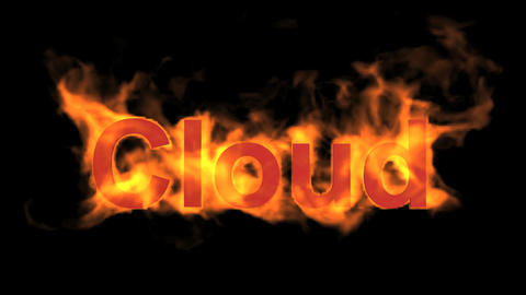 flame cloud word,fire text Stock Video Footage