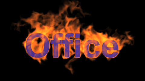 flame purple office word,fire text Stock Video Footage