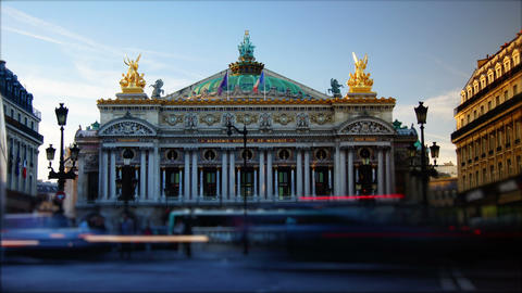 Time-lapse,rush hour in Paris,view to the Opera Ga Footage