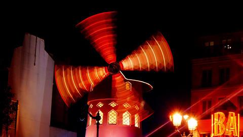 moulin rouge paris Stock Video Footage