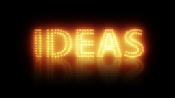 Creative Idea Title Stock Video Footage