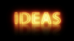 Creative Idea Title stock footage