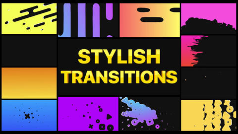 Stylish Transitions After Effects Template